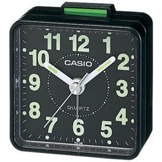 【CASIO 卡西歐】復古造型輕巧指針鬧鐘(黑-TQ-140-1DF)