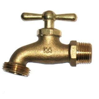 【灑水達人】美規銅製四分水龍頭牙較粗ORBIT定時灑水器專用2個(銅)