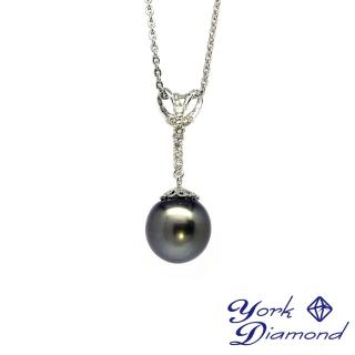 【約克鑽石】禮讚12.7mm天然大溪地南洋黑珍珠(真鑽項鍊)