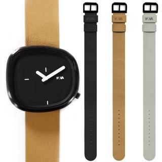 【NAVA DESIGN】經典淬鍊石頭造型套錶組-黑面(ND-O480N)