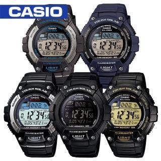 【CASIO 卡西歐】多功能慢跑運動馬拉松錶(W-S220)