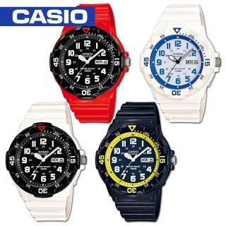 【CASIO 卡西歐】潛水風格-學生/青少年指針錶_鏡面4.4cm(MRW-200HC)