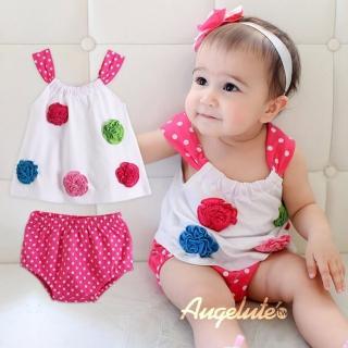 【BABY童衣】女寶寶無袖上衣裙加小褲套裝 32025
