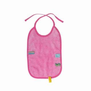 【荷蘭Snoozebaby】大尺寸綁帶式布標圍兜(粉紅色)