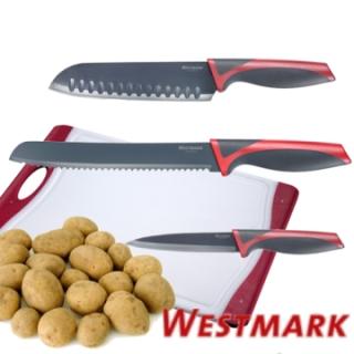 【德國WESTMARK】廚房3入刀具組(水果刀+麵包刀+日式氣孔刀)