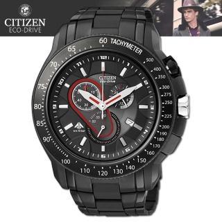 【CITIZEN 星辰】光動能藍寶石水晶時尚腕錶(AT0719-55E)