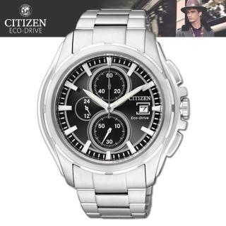【CITIZEN 星辰】光動能精品時尚三眼腕錶(CA0270-59F)