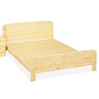【顛覆設計】松木實木5尺雙人床架(實木床板)