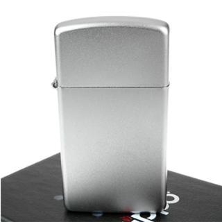 【ZIPPO】美系-Satin Chrome緞面鍍鉻-銀色霧面打火機-窄版