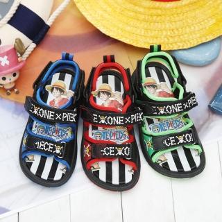 【童鞋城堡】OnePiece航海王魯夫運動兩用型男童涼鞋(OP4107)