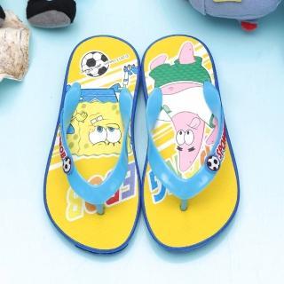 【童鞋城堡】海綿寶寶男童夾腳海灘拖鞋(SG1258)