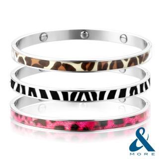 【&MORE愛迪莫鈦鍺】『時尚DNA鍺手環』(動物紋系列)
