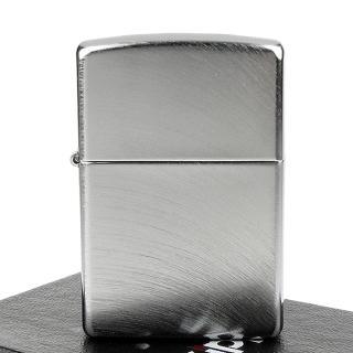 【ZIPPO】美系-Chrome Arch弧形拉絲刷紋鍍鉻打火機