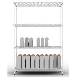 【樂活主義】IRON 荷重型 鍍鉻萬用四層架150X45X180