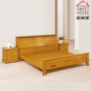 【甜美家】露西實木檜木五尺床組(整組檜木製做)