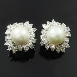 【蕾帝兒珠寶】呢喃白色貝珠耳環