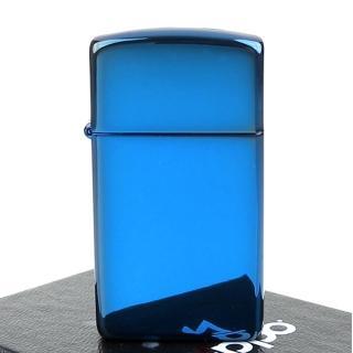 【ZIPPO】美系-超質感Sapphire藍寶色鏡面打火機(窄版)