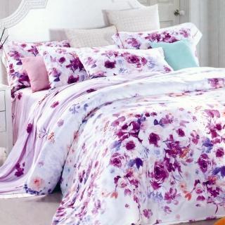 【Betrise紫妍角色】雙人100%奧地利天絲TENCEL四件式兩用被床包組