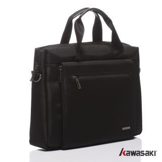 【KAWASAKI】精緻超輕平板公事包(黑色)