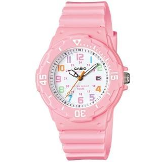 【CASIO 卡西歐】小巧潛水風格運動錶(粉紅-LRW-200H-4B2VDF)