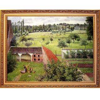 【開運陶源】Camille Pissarro卡密爾-畢沙羅.大幅93x73cm(厄哈格尼 我窗外的景緻)