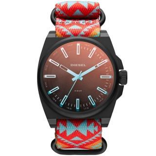 【DIESEL】都會叢林個性運動腕錶-橘(DZ1635)