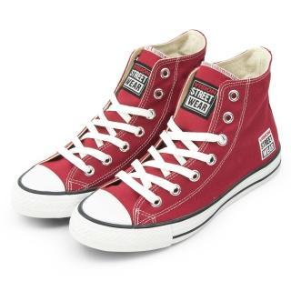【VISION STREET WEAR】男 經典帆布鞋(棗紅 V22008)