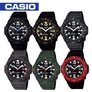 【CASIO 卡西歐】潛水風格/太陽能運動腕錶(MRW-S300H)