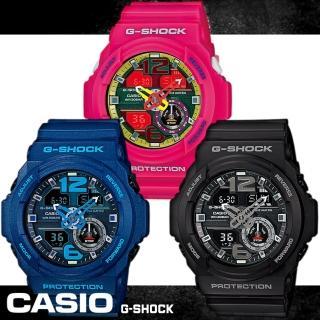 【CASIO 卡西歐 G-SHOCK 系列】機械感鏤空指針強悍雙顯運動錶(GA-310)