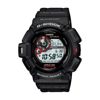 【CASIO 卡西歐 G-SHOCK 系列】方位/溫度/月相運動錶(G-9300)
