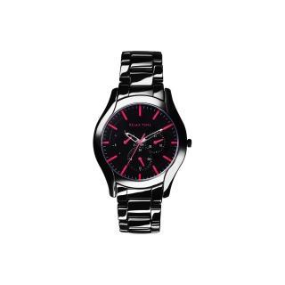 【Relax Time】嶄新系列日曆腕錶-黑x桃紅/42mm(RT-35-3-8M)