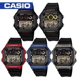 【CASIO 卡西歐】復古風-休閒運動腕錶(AE-1300WH)