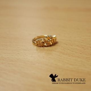 【RD 兔子公爵】現貨 經典歐美風格 個性克羅心風格十字花設計戒指(單色)