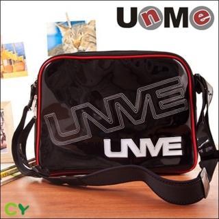 【UnMe】休閒亮面側背包-小(紅色)