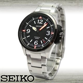 【SEIKO 精工】不鏽鋼錶帶霸氣型-機械男錶(SRP027K1)