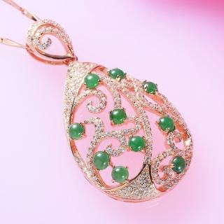 金玉滿堂-極致典雅老坑玻璃種A貨翡翠項鍊