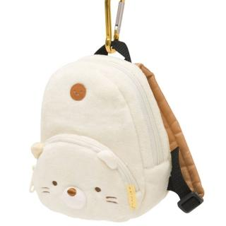 【San-X】角落公仔毛絨後背包造型吊掛收納包(羞羞貓)