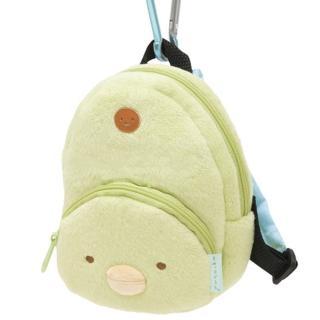 【San-X】角落公仔毛絨後背包造型吊掛收納包(企鵝君)