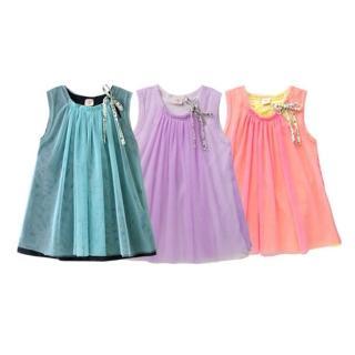 【baby童衣】洋裝 女童A字無袖紗裙 42155(共三色)