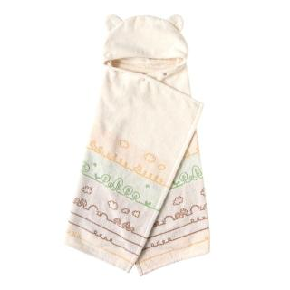 【Hoppetta】有機棉童趣森林熊耳朵浴巾