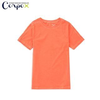 【Corpo RURU】女款短袖瑜珈韻律服-素色(橘)