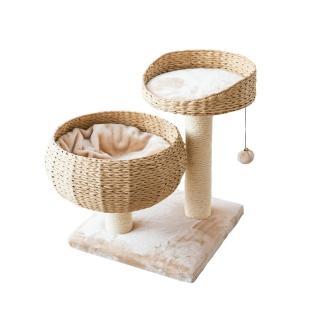 【美國PetPals】圓窩型紙繩編織貓跳台