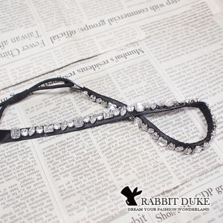 【RD 兔子公爵】現貨 經典歐美風格 個性拼接璀璨寶鑽設計髮帶/ 髮箍(單色)