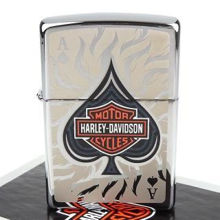 【ZIPPO】美系-哈雷-Harley-Davidson Spade(黑桃A圖案設計打火機)