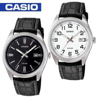 【CASIO 卡西歐】送禮首選-貴氣時尚皮革紳士錶(MTP-1302L)