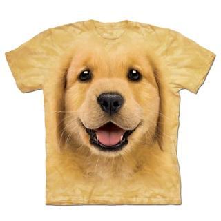 【摩達客】美國進口The Mountain 小黃金獵犬 設計T恤(預購)