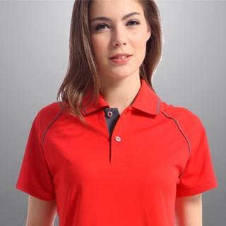 【Sunrise】活力鮮紅★短袖POLO女版襯衫(88118-1)