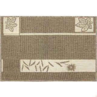 【范登伯格】綠洲★自然風圈毛踏墊-楓葉-內附止滑網(60x90cm)