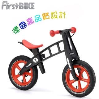 【FirstBIKE】德國高品質設計 寓教於樂-兒童滑步車/學步車(黑金鋼橘紅)