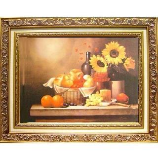 【開運陶源】富足安逸1   柔美系列 中幅(sunflower bread wine fruit)